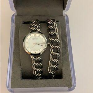 NEW DNKY silver watch bracelet